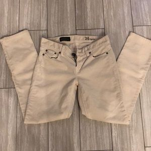 J crew ivory corduroy pants size 24